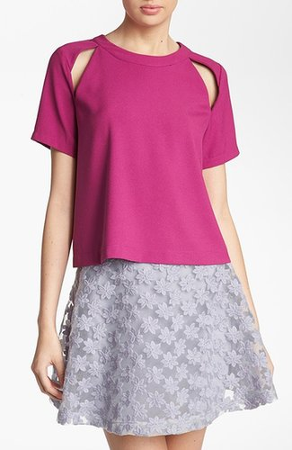 ASTR Cutout Zip Back Tee