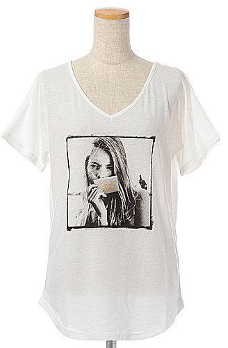 [CIAOPANIC TYPY]カードガールフォトTシャツ