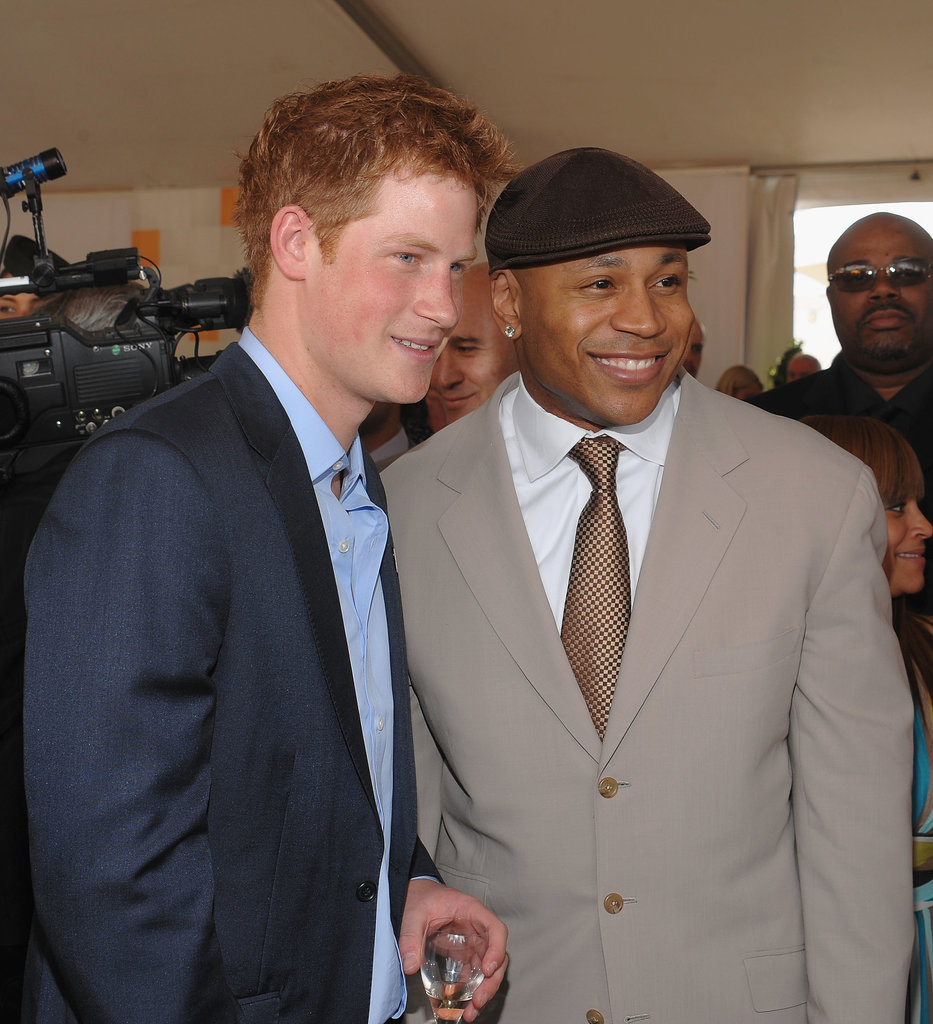 Prince Harry and LL Cool J took a photo together in May 2009 at the Veuve Clicquot Manhattan Polo Classic in NYC.