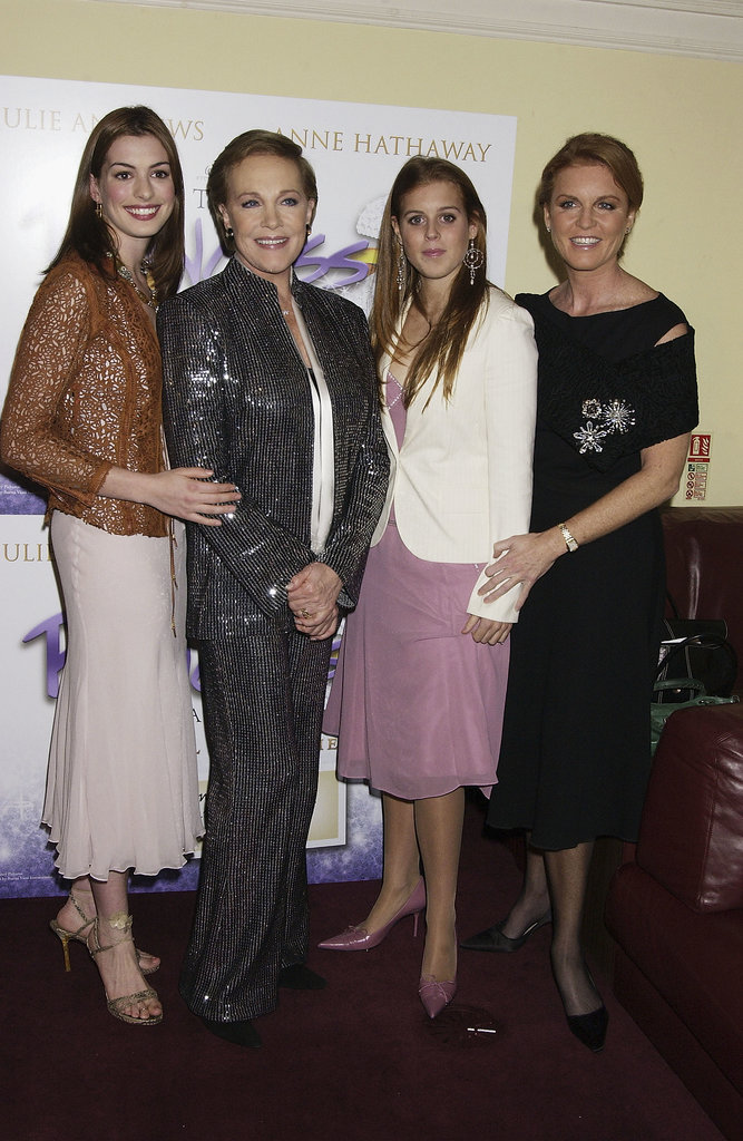 Anne Hathaway and Julie Andrews met Princess Beatrice at the London premiere of The Princess Diaries 2: Royal Engagement in September 2004.