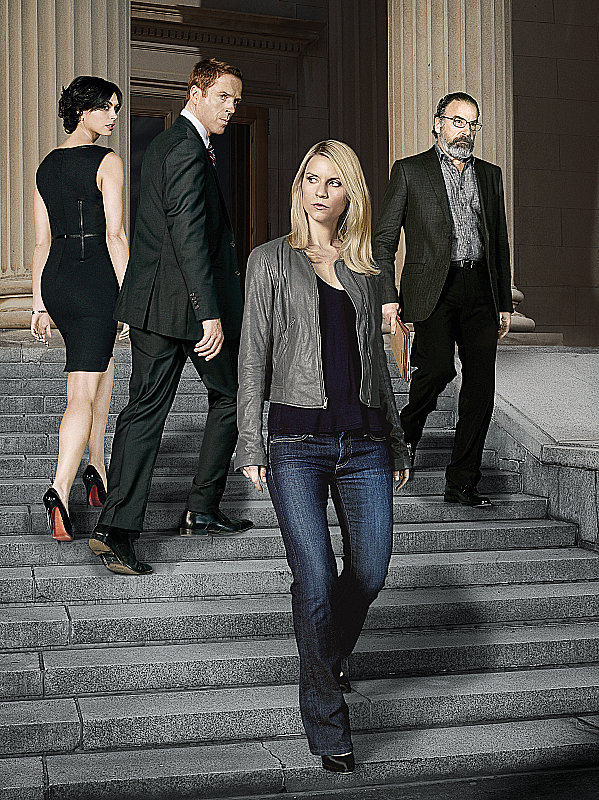 Homeland Two wins total:  Outstanding lead actress in a drama series, Claire Danes Outstanding writing for a drama series, Henry Bromell