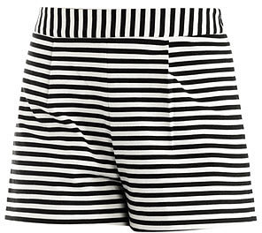 Emma Cook Stripe high-waisted shorts