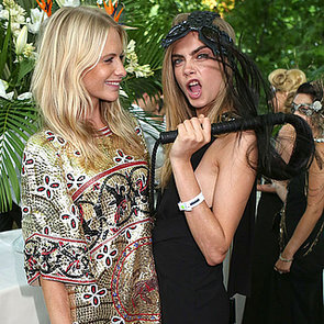 Poppy & Cara Delevingne Frock up for London's Animal Ball