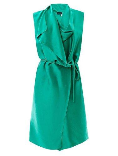Lanvin Draped satin wrap dress