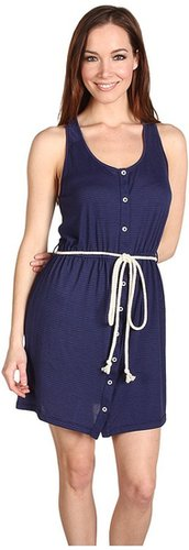 Big Star - Regan Rope Tie Dress (Navy Shadow Stripe) - Apparel