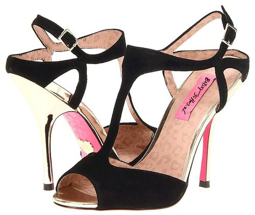 Betsey Johnson - Blonddee (Black Suede) - Footwear