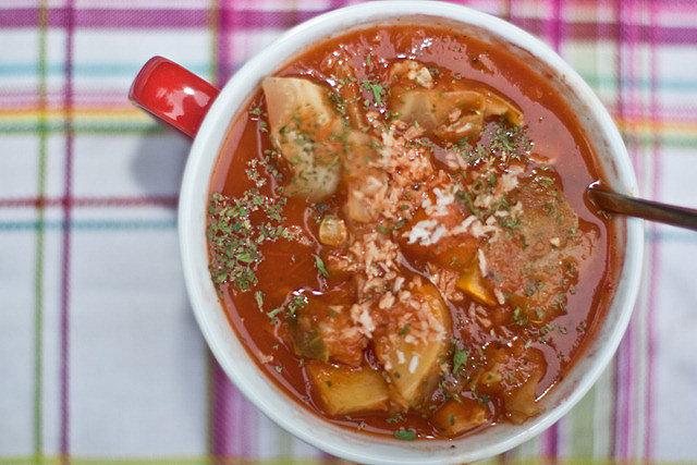 cabbage potato green cabbage and leek soup with lemon creme fraiche ...