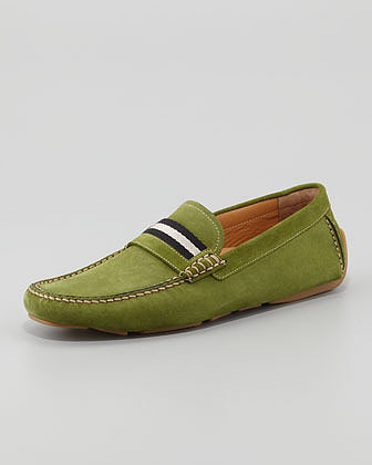 Bally Wabler Suede Driver, Green