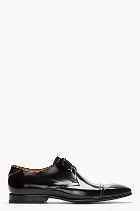 PS PAUL SMITH Black patent leather robin antick boots