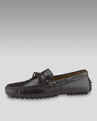 Cole Haan Air Grant Moccasin, Dark Brown Croc