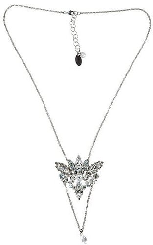 On Aura Tout Vu Double Crystal Pendant Necklace