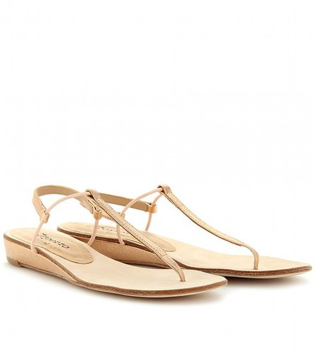 Repetto SAPHIR METALLIC THONG SANDALS