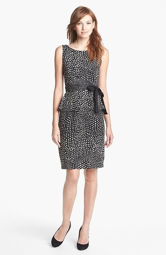 Taylor Dresses Print Jersey Peplum Dress