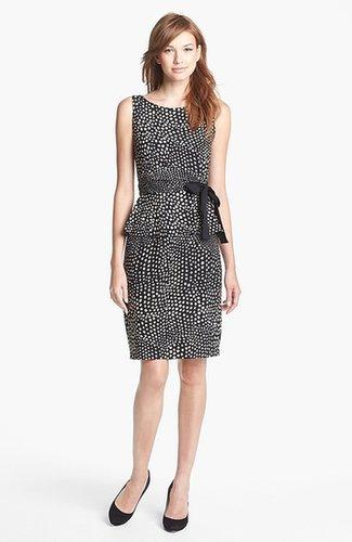 Taylor Dresses Print Jersey Peplum Dress