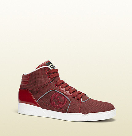 Red High-Top Sneaker