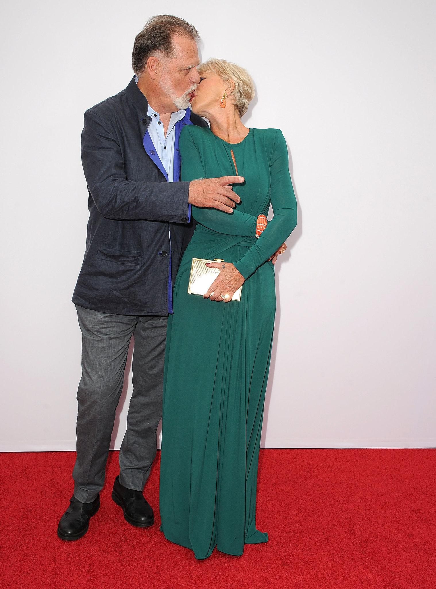 Helen Mirren kissed Taylor Hackford.