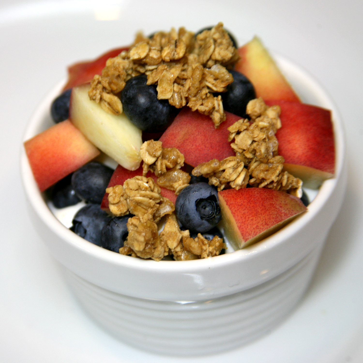 Blueberries and Peaches With Granola | Greek Yogurt — It's Not Just ...
