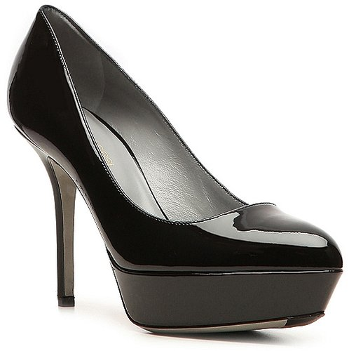 Sergio Rossi Patent Leather Platform Pump
