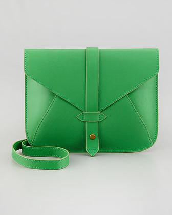 Tribeca Church Street Envelope Crossbody Bag, Green/Yellow