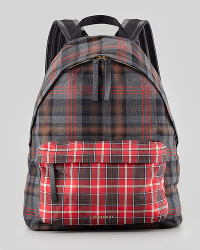 Givenchy Men's Plaid Backpack, Red