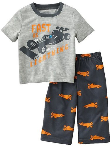 Carter's fast as lightning race car pajama set - baby