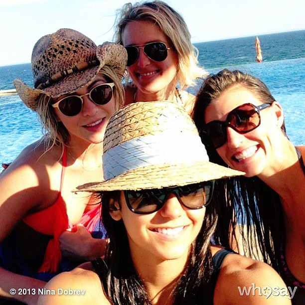 Nina Dobrev took a picture with friends. Source: Nina Dobrev on WhoSay