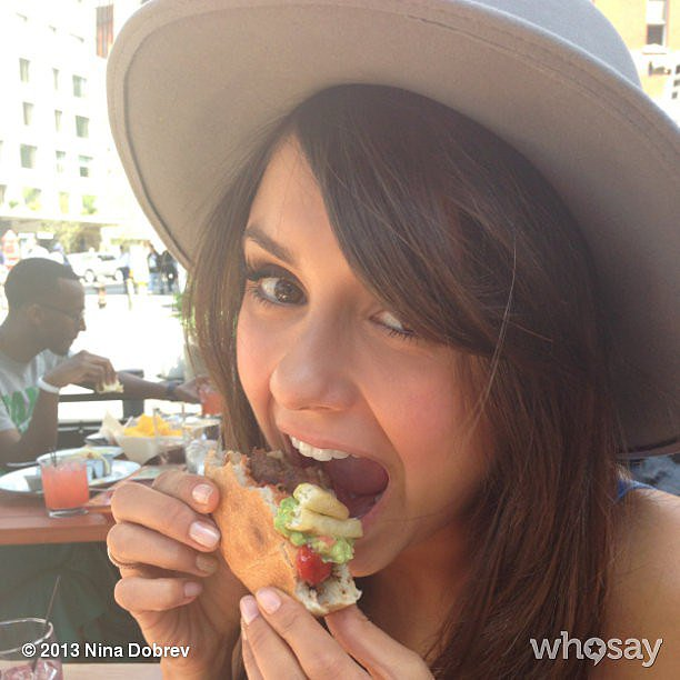 Nina Dobrev did not let herself go hungry. Source: Nina Dobrev on WhoSay