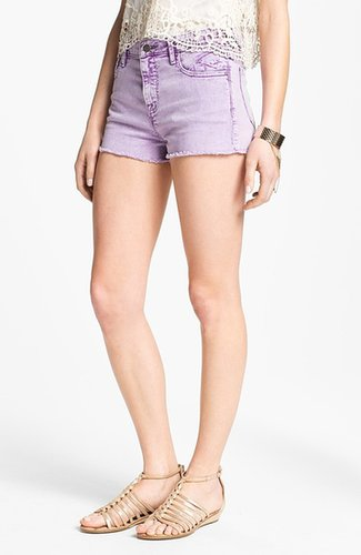 Vigoss High Waist Cutoff Denim Shorts (Juniors)