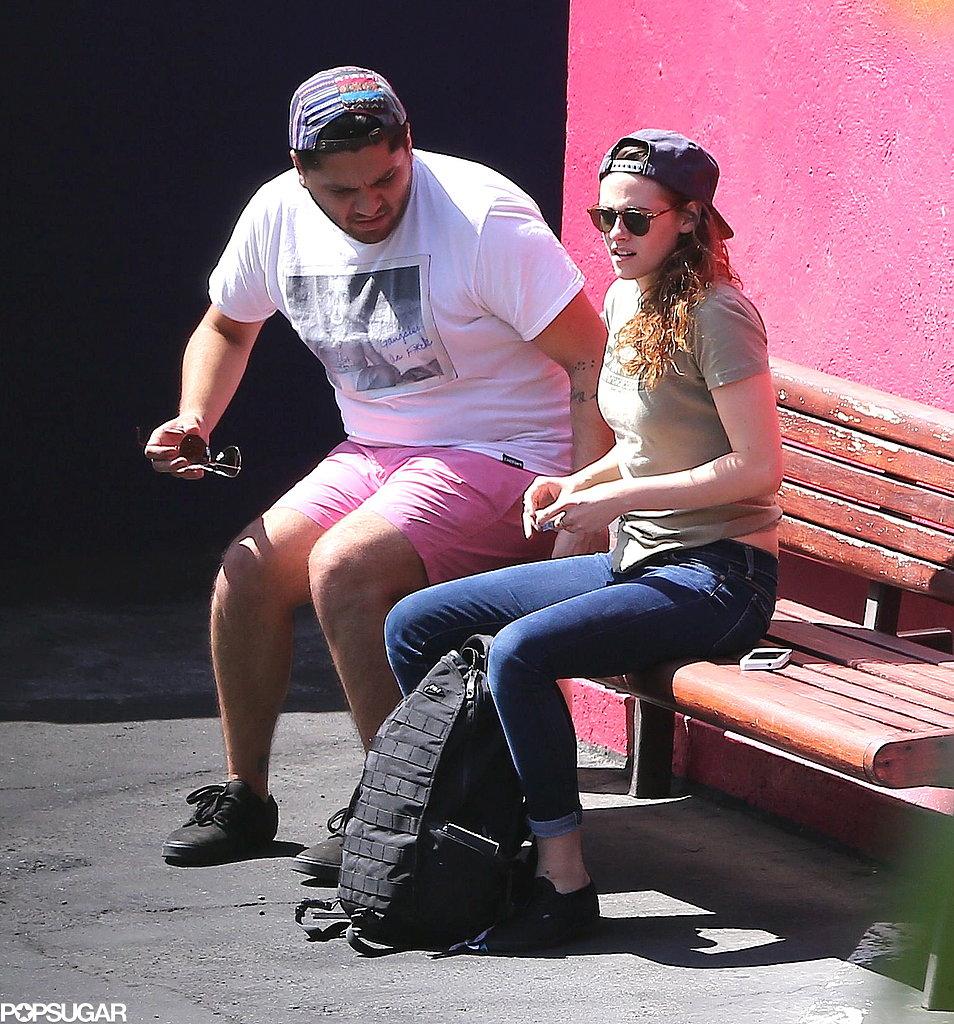 Kristen Stewart sat down with a friend.