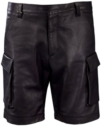 Leather cargo short