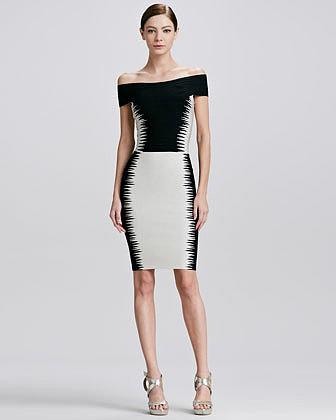 Herve Leger Bertha-Collar Dress