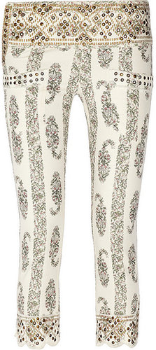 Isabel Marant Bario printed mid-rise skinny jeans