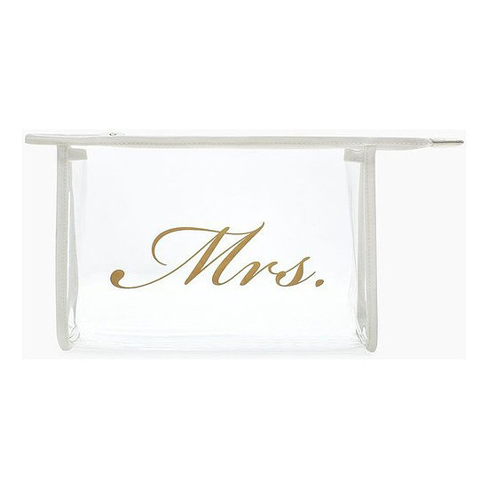 So everyone knows who the bride is, pick her up this Bridal Airline Cosmetic Bag ($60) from Kate Spade.