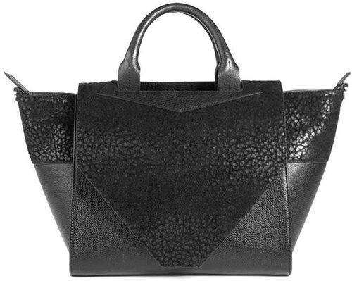 Structured Black Leather Tote