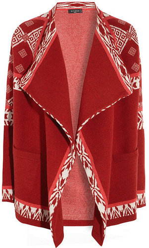 Etro Draped wool-blend cardigan