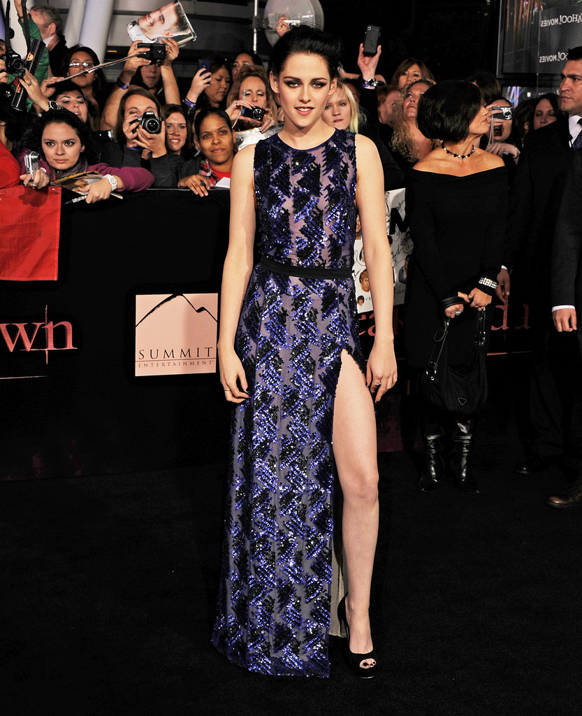The actress tested the fashion-forward waters in a sequined J. Mendel gown, complete with a supersexy side slit, for the Hollywood premiere of Breaking Dawn Part 1 in November 2011.