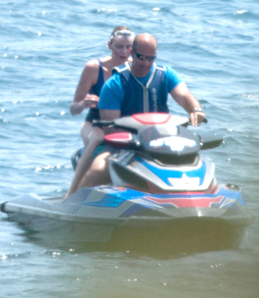 Princess Charlene of Monaco spent some time on a Jet Ski during her Italian vacation.
