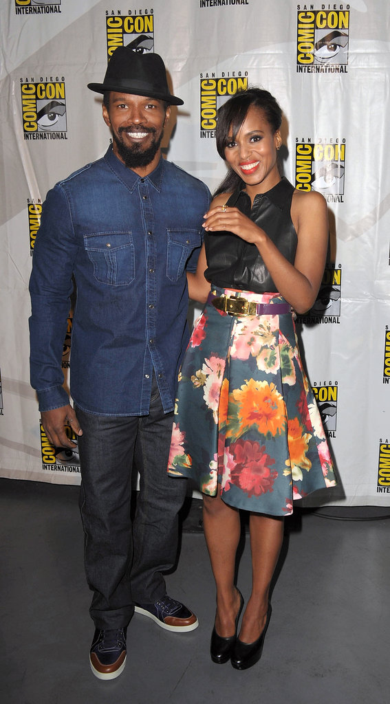 Jamie Foxx and Kerry Washington posed together at the Django Unchained panel during the 2012 convention.