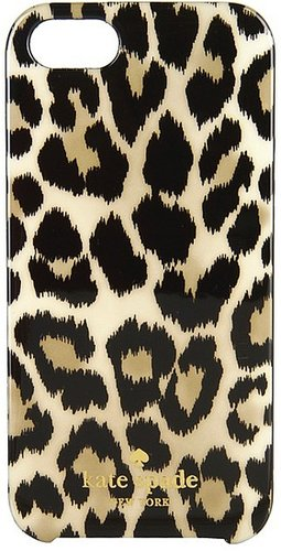 Kate Spade New York - Leopard Ikat Resin Phone Case for iPhone 5 (Leopard) - Bags and Luggage