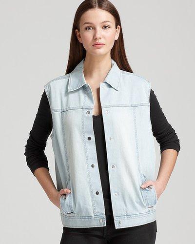 Tibi Jean Vest - Vintage Blue Wash