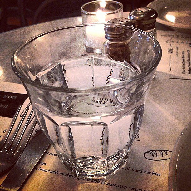 "This cryptic caption read, ""This is Water. (Do you get it yet?)"" Source: Instagram user manrepeller"