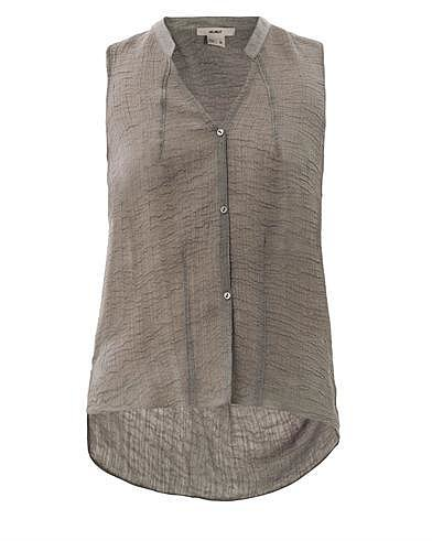 Helmut Textured sleeveless blouse