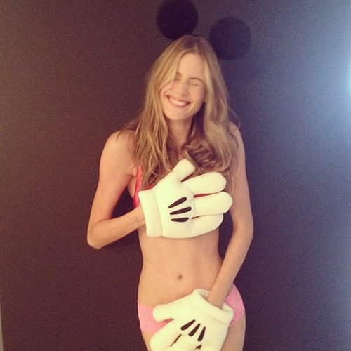 Behati Prinsloo celebrated her engagement to Adam Levine with this cheeky lingerie snap. Source: Instagram user behatiiprinsloo