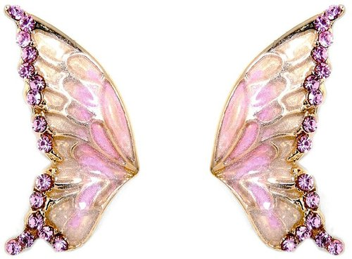 Talullah Tu Enamel Wing Crystal Earrings