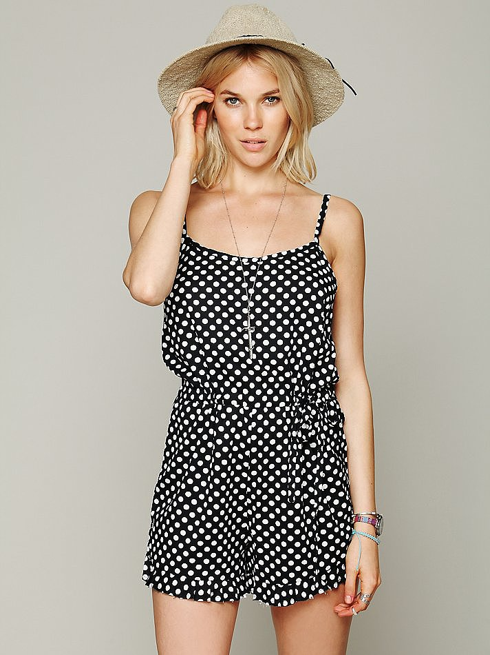 Nothing says playful quite like polka dots, so if that's the look you're going for, then buy this Free People dotted romper ($88).