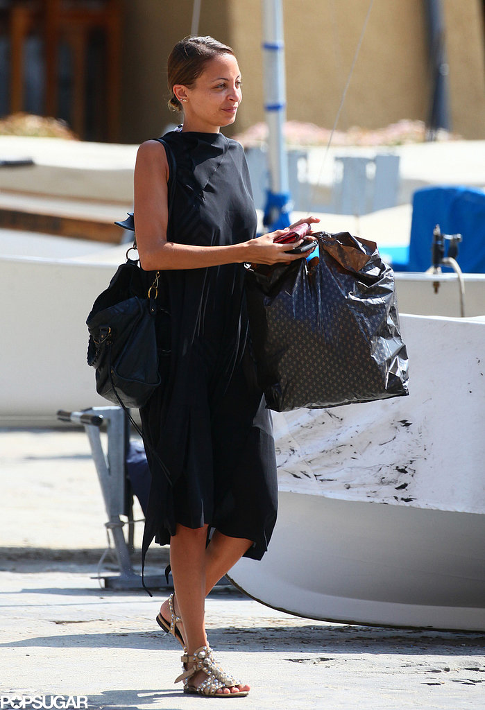 Nicole Richie did some shopping around town in Italy.