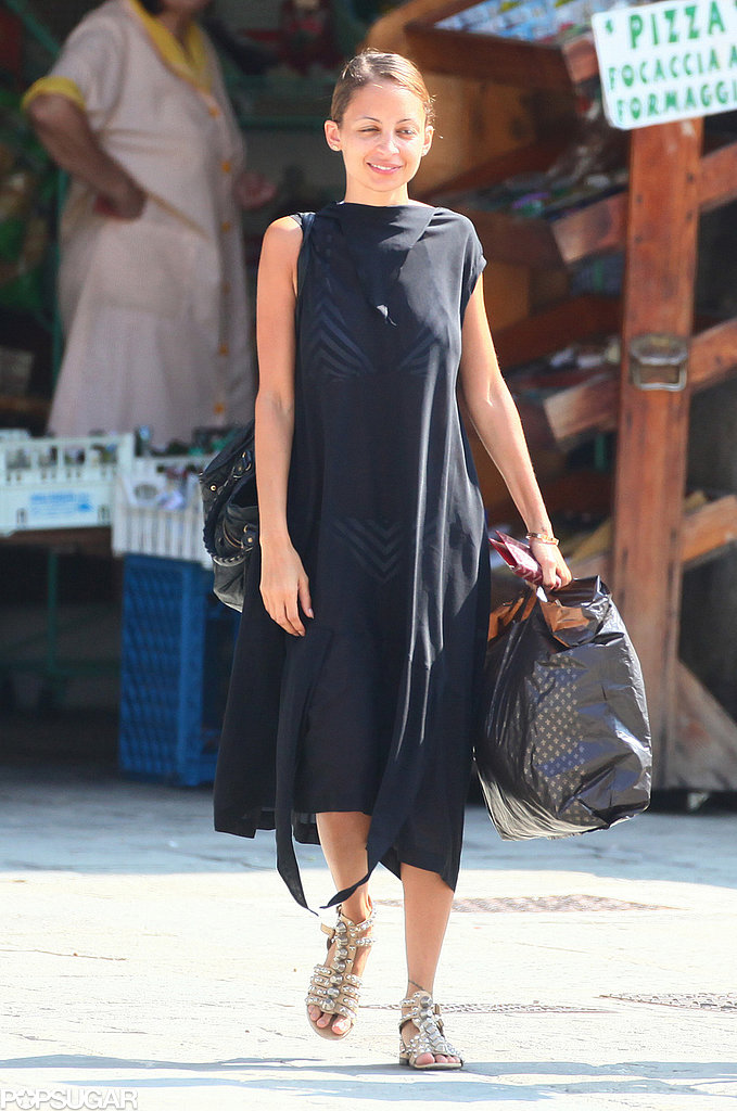 Nicole Richie strolled the streets of Portofino, Italy.