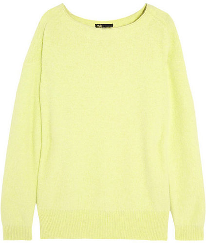 Maje Origan neon knitted sweater