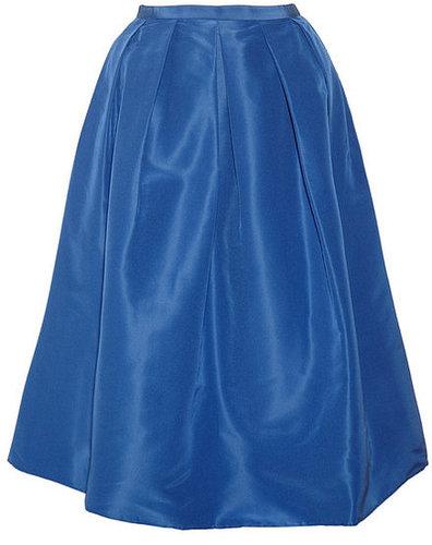 Tibi Silk-faille midi skirt