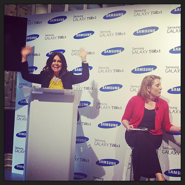 Lisa Wilkinson got animated at the Samsung Galaxy Tab3 launch during the week — and that's why we love her!